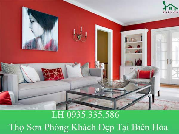 Thợ sơn phòng khách đẹp tại Biên Hòa