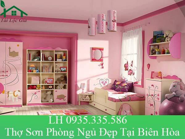 Thợ sơn phòng ngủ đẹp tại Biên Hòa
