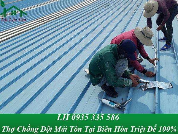 Thợ chống dột mái tôn tại biên hòa triệt để, giá rẻ